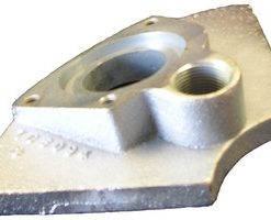 GOOSENECK PLATE ADAPTOR FOR GUNITE MACHINE