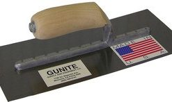 "GUNITE TROWEL w/ CURVED BLADE, 5"" x 12"" EXPOSED RIVETS"