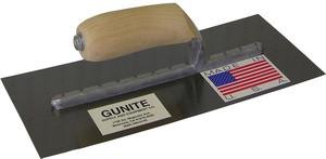 "GUNITE TROWEL w/ CURVED BLADE, 5"" x 12"" EXPOSED RIVETS"