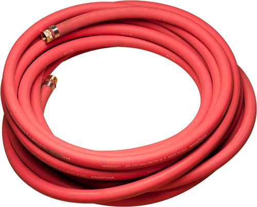 "1"" RED GROUT HOSE, 10' LENGTH FNPT END"